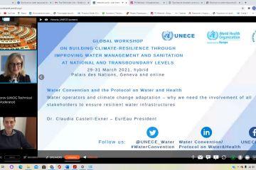 Информация по глобальному рабочему совещанию по вопросам повышения устойчивости к последствиям изменения климата путем улучшения управления водными ресурсами и санитарии на национальном и трансграничном уровнях